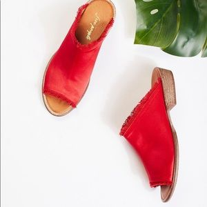 Free People Riley Satin Slip On Sandal